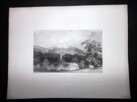 After Allom 1846 Antique Print. Belvoir Castle, Leicestershire